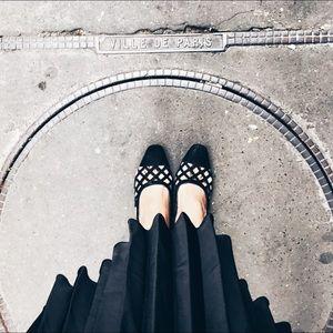 Zara openwork slingback shoes
